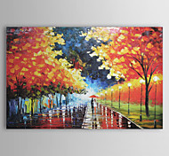 Oil Painting Landscape With Stretched Frame Hand-Painted Canvas