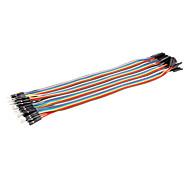 dupont fils mâle à femelle câble de ligne 40p 40p-connecteur de test de lignes (20cm)