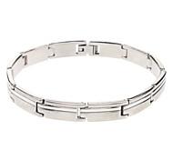 Oblong Wiredrawing Stainless Steel Bracelet