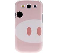Cute Pig Pattern High Quality Hard Case für Galaxy S3 I9300 (Pink)