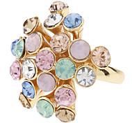 z&x® Bague fleur de diamant de couleur fantaisie