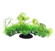 Aquário Decoração Ornamentos Plástico Verde