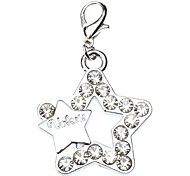 Rhinestone Decorated Double Star Style Collar Charm for Dogs Cats