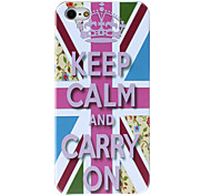 Keep Calm and Carry On Pattern Hard Case for iPhone 5/5S