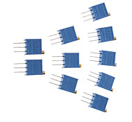 3296 Potentiometer 50kohm Adjustable Resistors (10 PCS,Blue)