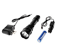 C6 Rechargeable 3-Mode Cree XR-E Q5 LED Flashlight Set (1x18650)