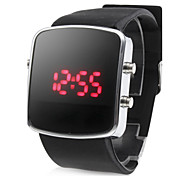 Silicone Band Modern Unisex Jelly Sport Style LED Wrist Watch - Black Cool Watch Unique Watch