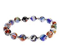 Colorful Glaze a String of Beads Bracelet