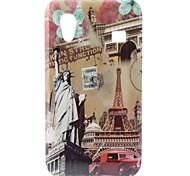 Samsung Galaxy Ace S5830 Hoesje Met Vrijheidsbeeld en Eiffeltoren Designs