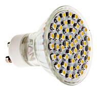 3W GU10 Spot LED MR16 48 SMD 3528 300 lm Blanc Chaud AC 100-240 V