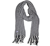 Deniso—Hand Woven Wool Scarf (Gray)