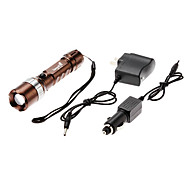 NF-713 Rechargeable 3-Mode Cree XM-L T6 Zoom LED Flashlight Set (1800LM, 1x18650)