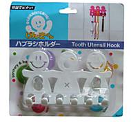 Um Toothbrushes Familiares Pendurar