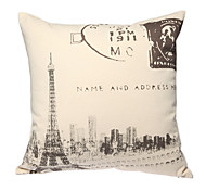 imprimir retro tapa paris almohada decorativa