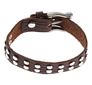 Z&X®  Mini Round Rivet Leather Bracelet