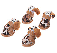Lovely Leopard Printing Style  Shoes for Dogs (Assorted Color,XS-XL)