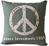 Peace Love Cotton/Linen Decorative Pillow Cover