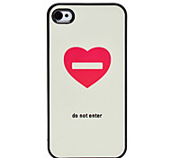 Custodia rigida motivo cuore per iPhone 4/4S