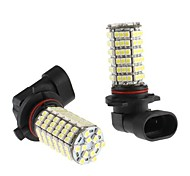 9006 6W SMD 120x3528 Blanc Ampoule LED Lampe Brouillard voiture (12V, 2-Pack)