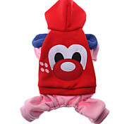 Winter Cotton Hoodies for Dogs Red M