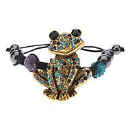 Fully-jewelled Frog Shape Weave Bracelet