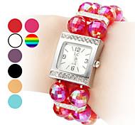Women's Plastic Analog Quartz Bracelet Watch (Assorted Colors)