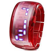 Armband Design Zukunft blaue LED Armbanduhr - rot