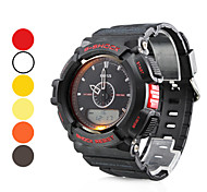 Men's Multi-Functional Style Rubber Analog-Digital Automatic Wrist Watch (Assorted Colors)
