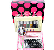 Nail Art DIY Print Color Printing Stamp Polish Machine Combination Kit one SET(L)