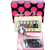 Nail Art DIY Print Color Printing Stamp Polish Machine Combination Kit one SET(L)