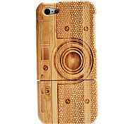 Retro Camera Patroon Afneembare Houten Case voor iPhone 5
