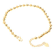 Full Bead Chain Gold-plated Anklet