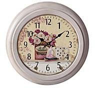 """12.75 reloj de pared de metal """"h hora del té"""