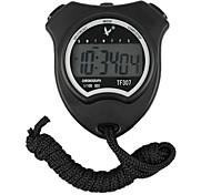 Bike Computer,Black Shockproof Wearable Outdoor Stopwatch with Alarm Clock Function