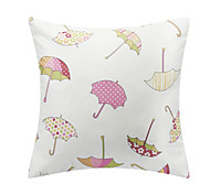 Casual Colorful Umbrella Polyester Decorative Pillow Cover