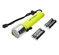 SA-819 Waterproof 1-Mode Cree XR-E Q5 Diving LED Flashlight Set (200LM, 4xAA, Yellow)