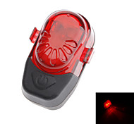 Red+Black ABS+Rubber 2 Super Bright LED/Waterproof/2 Flashing Mode Bicycle Safety Taillights with 2 AAA Batteries
