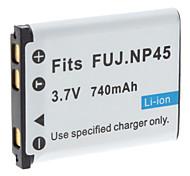 batería de vídeo digital para reemplazar fuji.np45 J250 J130 J150 fuj y más (3.7v, 1200 mah)