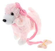 Singing and Dancing Toy Biting Bone Bowknot Plush Puppy (3xAA, Assorted Color)