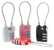 3-digit Luggage Combination Lock (Assorted Color)