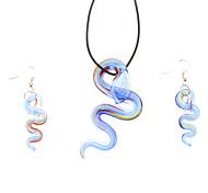 Ocean Blue Snake Shaped Jewelry Set