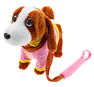 Singing and Dancing Toy Dressed Cute Plush Puppy (3xAA, Assorted Color)