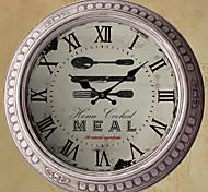 """13.5 Reloj de pared de metal """"h hora de la cena"""