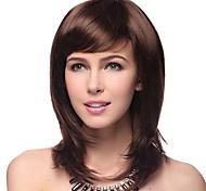 Высший сорт качества синтетического прямой Браун парик волос 5 цветов на выбор