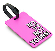 Travel Luggage Tag - NO,IT'S NOT YOURS(Pink)