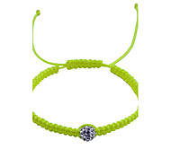 European Style  Fashion Drill Weave  Adjustable Bracelet