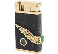 Leather Cover Windproof Gas Lighter (Assorted Colors)