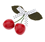 Speckle Bow Tie Cherry Design Hair Clip for Pets