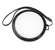 MENNON 67mm Camera White Balance Lens Cap Cover with Hand Strap (Black & White)