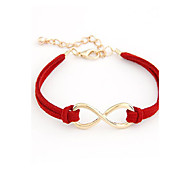 Alloy Infinity Charm Bracelet with Adjustable Size